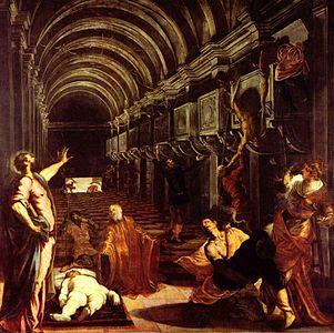 GALERÍA DE LA ACADEMIA «El traslado del cuerpo de San Marcos», de Tintoretto