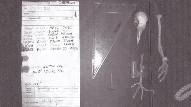 Bletchley Park Se encontró junto al cadáver de una paloma olvidada al fondo de una chimenea en la casa de un particular