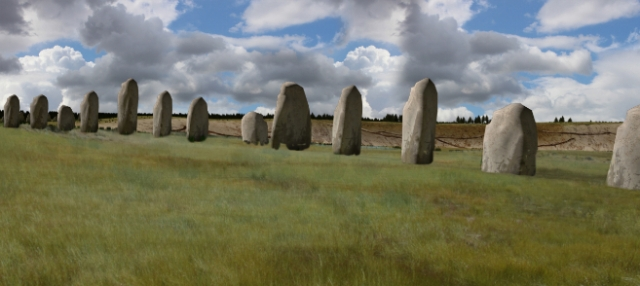 Recreación artístico del círculo de piedras de 'Superhenge'.LUDWIG BOLTZMANN INSTITUTE L