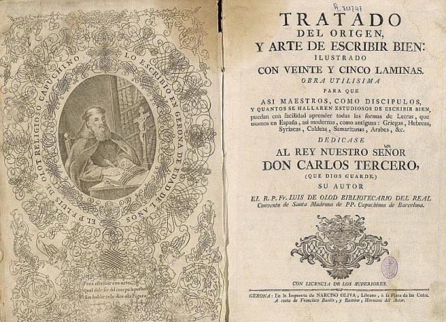 Tratado del origen y arte de escribir bien de Luis de Olod.