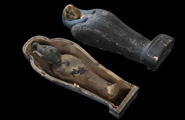 Estatuas de Osiris descubiertas por una expedición de Goddio. HILTI FOUNDATION