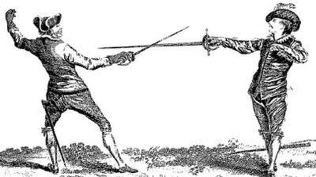 Wikimedia Duelo con espadas ropera