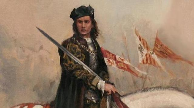 Ferrer-Dalmau Pintura de el Gran Capitán con su tradicional indumentaria