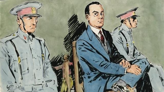 abc En las primeras sesiones, el procesado erguido, seguro de si mismo, casi desafiante (año 1958)