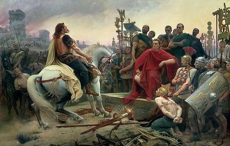 ABC | El caudillo galo Vercingétorix depone sus armas a los pies de César