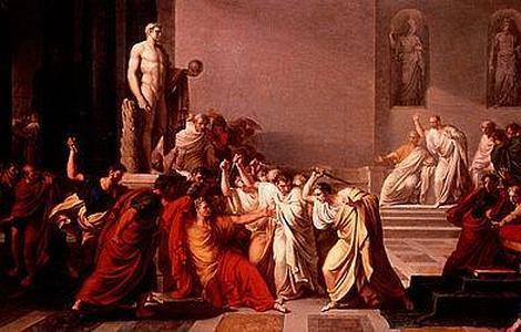 ABC | Pintura de la muerte de Julio César en 44 a. C, por Vincenzo Camuccini