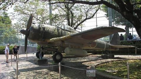 Avión «Zero» japonés, utilizado por los kamikazes en la II Guerra Mundial y expuesto en el Museo de la Paz de Chiran(PABLO M. DÍEZ)