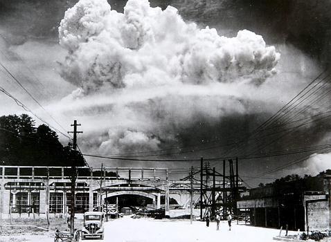 Momento posterior a la explosión en Nagasaki (EFE)
