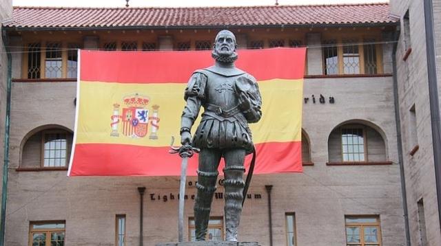 M. TRILLO Estatua de Pedro Menéndez de Avilés en San Agustín (Florida), que los Reyes visitan este viernes