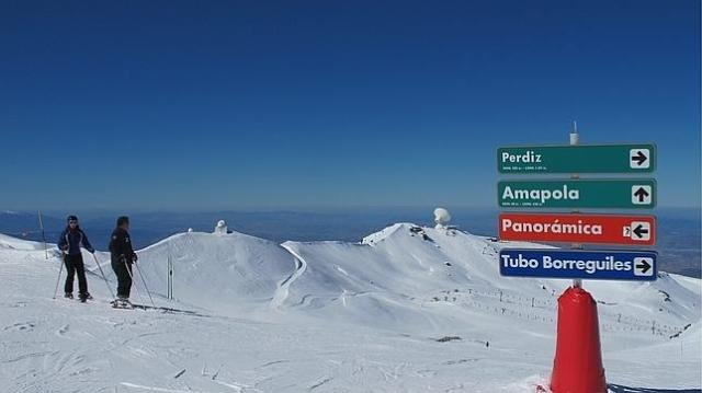 ABC Una pista de esquí en Sierra Nevada