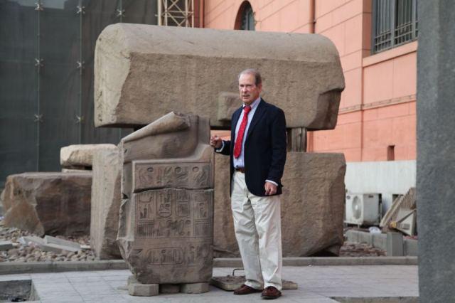 Jorge Olaso, el artista español que expone en el Museo Egipcio sobre el derribado Al Qurna L.C