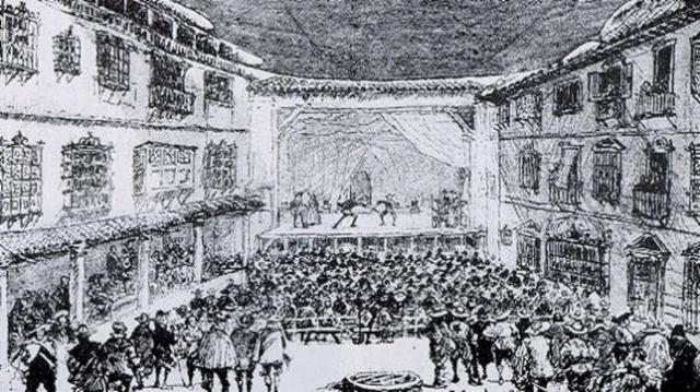 ABC   Grabado antiguo del Teatro del Príncipe
