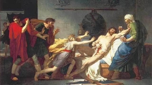 abc | La muerte de Catón, por Pierre-Narcisse Guérin