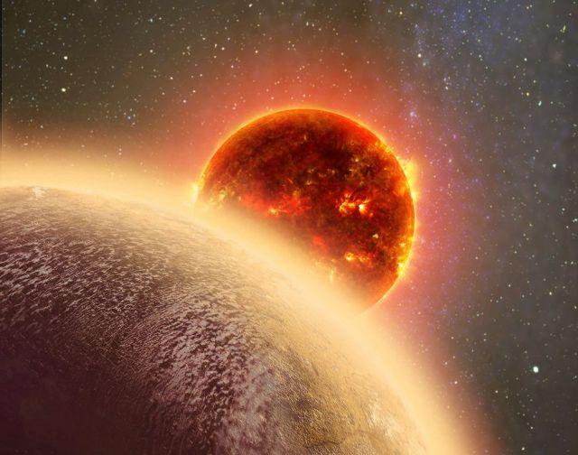 Recreación artística del planeta GJ 1132b orbitando a su estrella, una enana roja Dana Berry