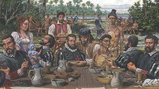 Primera comida de Acción de Gracias, San Agustín septiembre de 1565- Florida Museum of Natural History