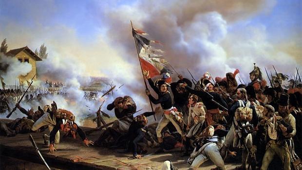 Napoleón liderando a sus tropas en la Batalla del puente de Arcole. - Wikimedia