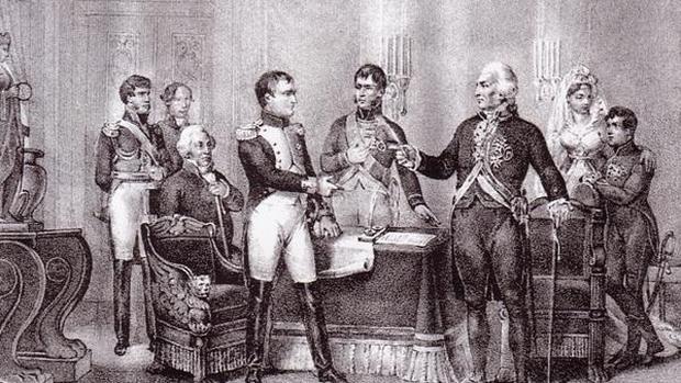 En las Abdicaciones de Bayona, Carlos IV y Fernando VII aceptaron dinero y tierras a cambio de ceder España a los franceses - ABC