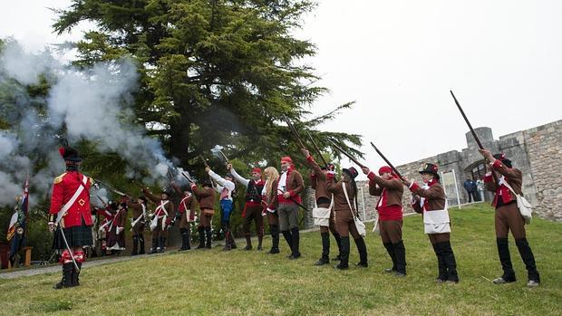 Recreación junto al Castillo de Burgos, uno de los escenarios de la Guerra de la Independencia - ICAL