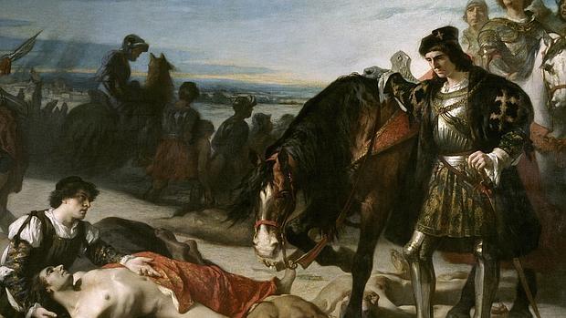 El Gran Capitan contemplando el cadaver del duque de Nemours - Museo del Prado
