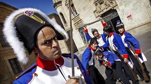 Escenificación en Ciudad Rodrigo con motivo del Bicentenario de la Guerra de la Independencia- ICAL
