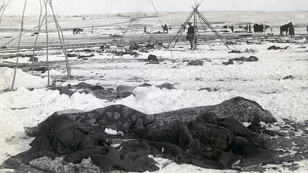 Aspecto de Wounded Knee tras la masacre - ABC