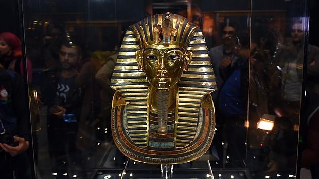 La máscara de Tutankamón, de nuevo en el Museo Egipcio de El Cairo - AFP