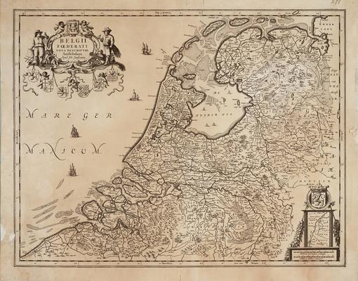 Mapa de las provincias de los Países Bajos en el siglo XVI- Universiteit van Groningen