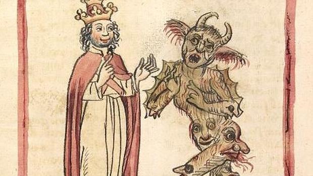 Silvestre II y el Diablo en una ilustración de 1460 - Wikimedia