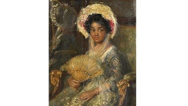 «Jovencita negra» (c- 1900), de Simon Maris, ha pasado a llamarse «Mujer joven con abanico»