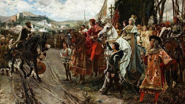 La rendición de Granada, por Francisco Pradilla - Museo del Prado
