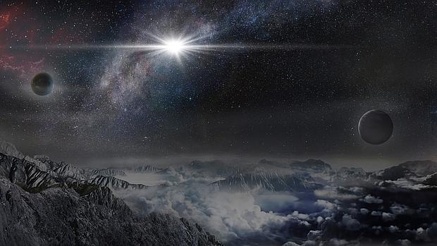 Así se vería la supernova desde un hipotético planeta situado a 10.000 años luz de ella, en su misma galaxia - Wayne Rosing