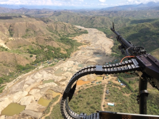 El San Bingo desde el aire. EJÉRCITO NACIONAL