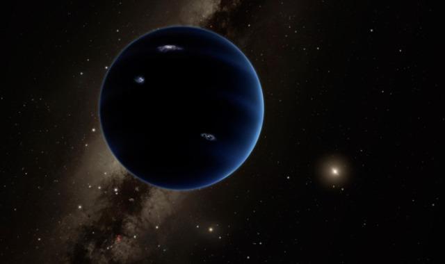 Recreación del 'Planeta nueve'. CALTECH