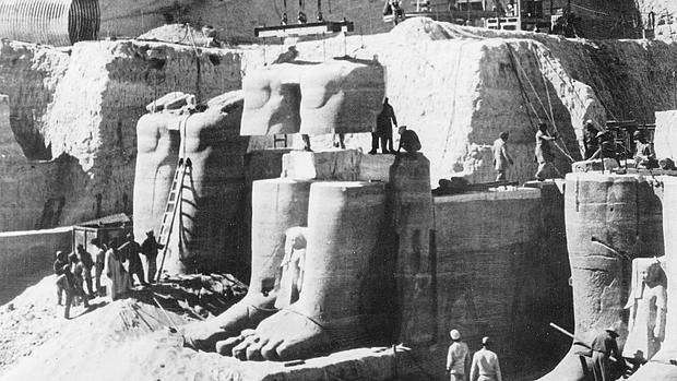 Los trabajos de desmantelamiento y traslado de los templos de Abu Simbel - ABC
