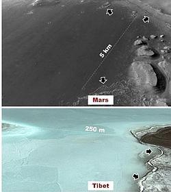 El estudio dice que esa región marciana era similar al actual Tíbet- PSI
