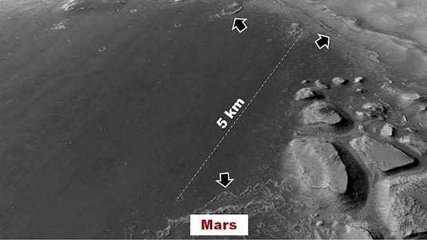 La cuenca donde los investigadores ubican los antiguos lagos en Marte - PSI