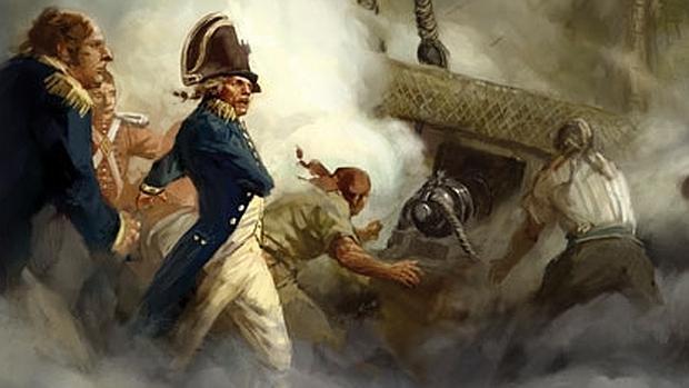 Nelson, combatiendo en Trafalgar - Wikimedia
