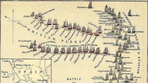 Batalla de Trafalgar- Wikimedia