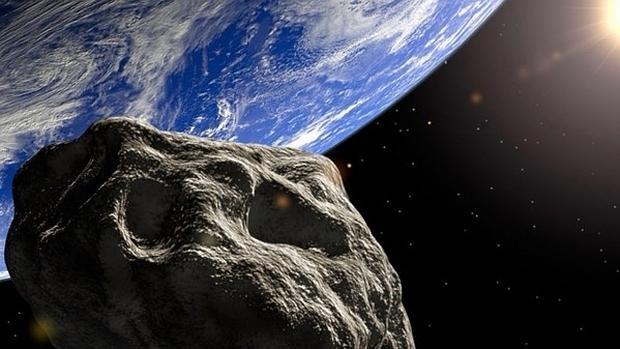 Representación de un asteroide acercándose a la Tierra - EarthSky