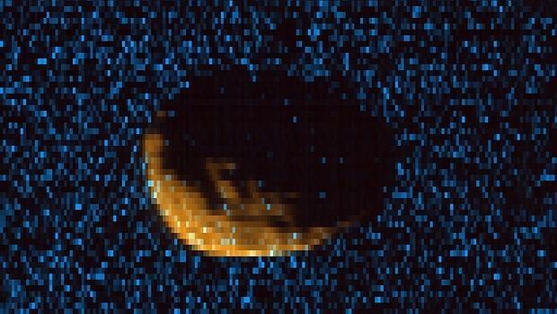 Así se ve Fobos a través del Espectrógrafo de Imágenes Ultravioleta de la sonda MAVEN - CU/LASP y NASA