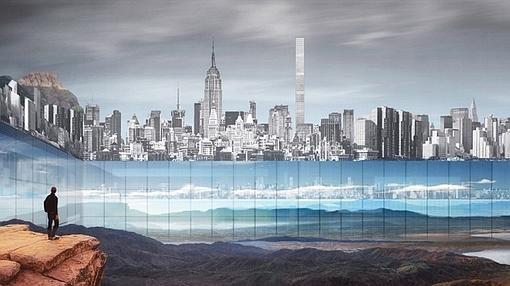 Un enorme cristal crearía un efecto de horizonte infinito