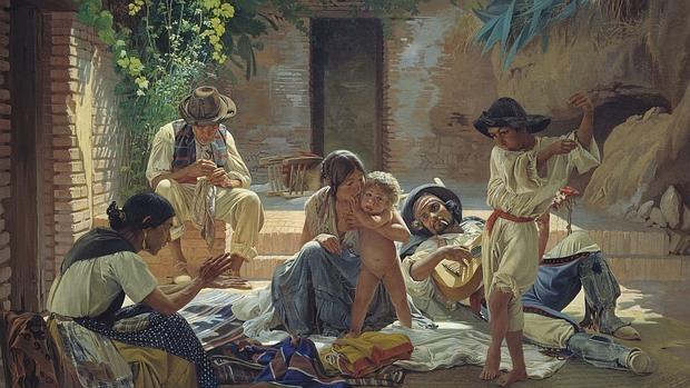 Pintura de una familia gitana española, 1853 - Bibliotekar.ru