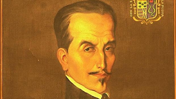 Detalle de un retrato del Inca Garcilaso de la Vega, pintado por Francisco González Gamarra - ABC