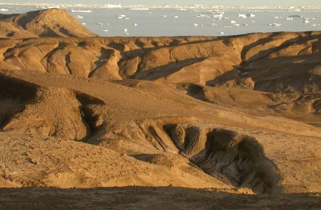 La gran extinción quedó registrada en los fondos marinos de la isla Seymour (en la imagen) en la península antártica. Vanessa Bowman