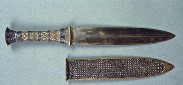 Puñal de hierro encontrado junto a la tumba del faraón Tutankamón (Getty Images)