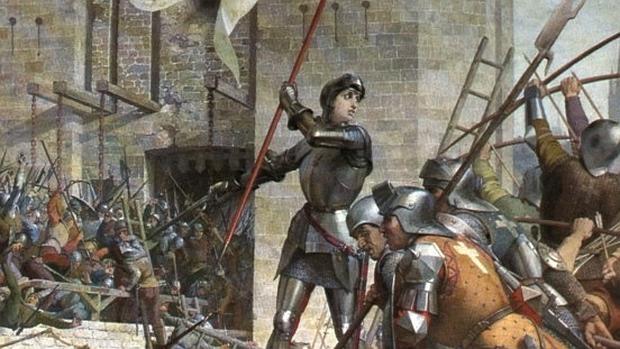 Juana, durante el asedio de Orleans - Wikimedia