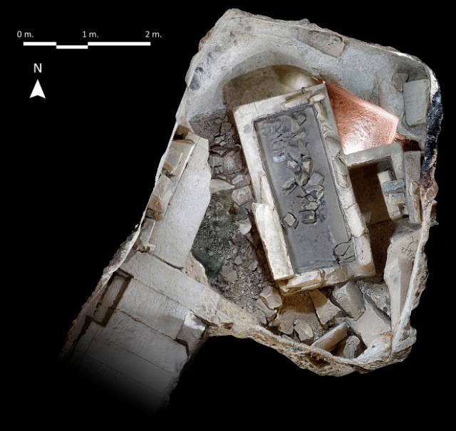 Aspecto de la cámara funeraria de Ipi. FRANCISCO CARRIÓN