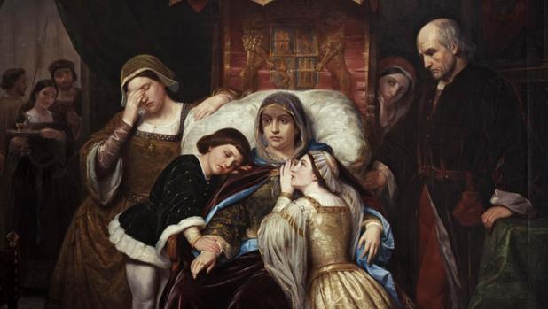 La demencia de Isabel de Portugal. Cuadro atribuido al pintor barcelonés Pelegrín Clav - Wikimedia