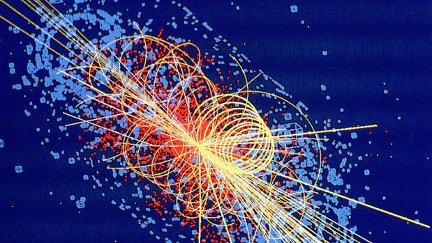 sto es lo que apareció en las pantallas del LHC al descubrir el bosón de Higgs. - ABC