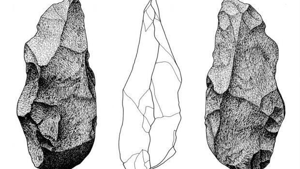 En la imagen, hachas antiguas halladas en Toledo - ABC